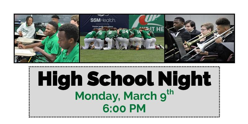 High School Night at St. Mary's!