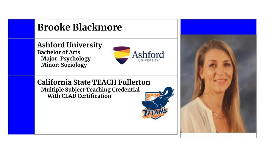Brooke's College Info