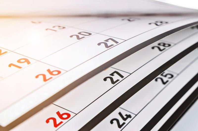 A generic image of calendar