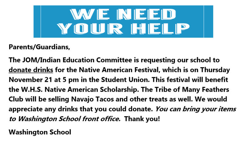 Donate drinks/beverages to the Native American Festival Featured Photo