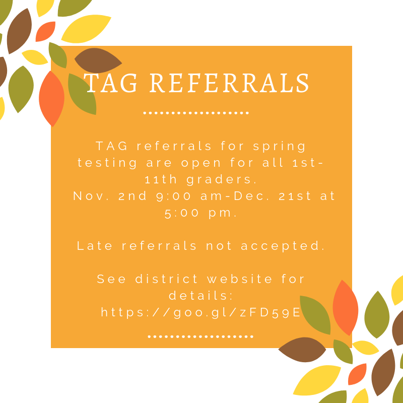 TAG REFERRAL WINDOW NOW OPEN Featured Photo