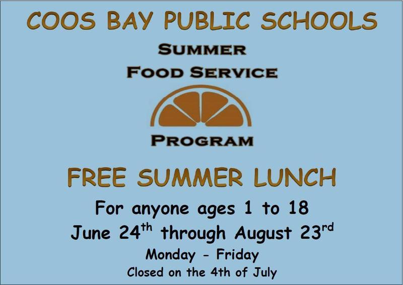 Coos Bay Schools Summer Lunch Program