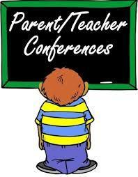 parent teacher conference on white board and a student