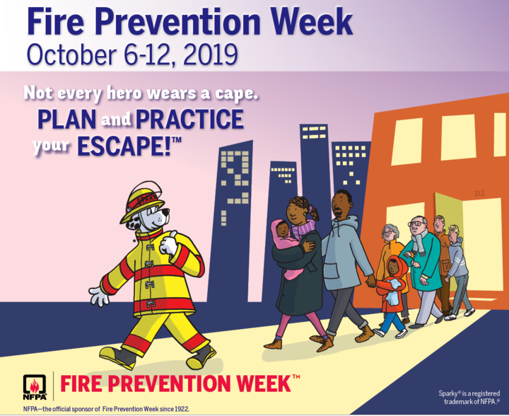 Fire Prevention Week October 7th - 10th