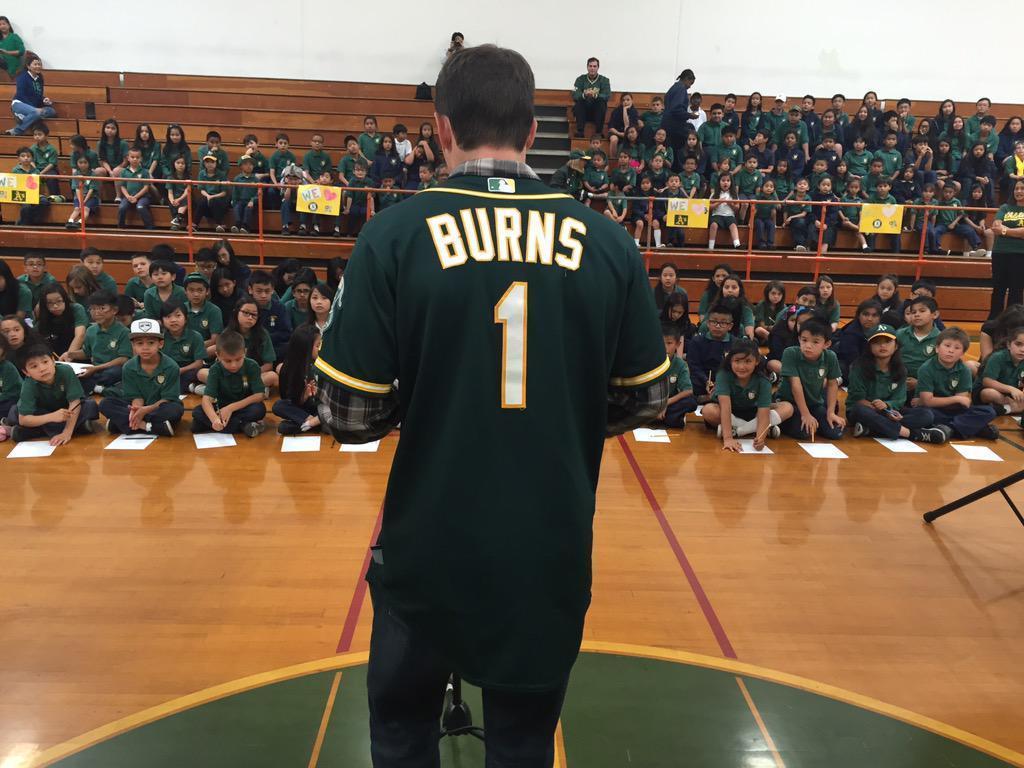 Billy Burns visits St. Bede