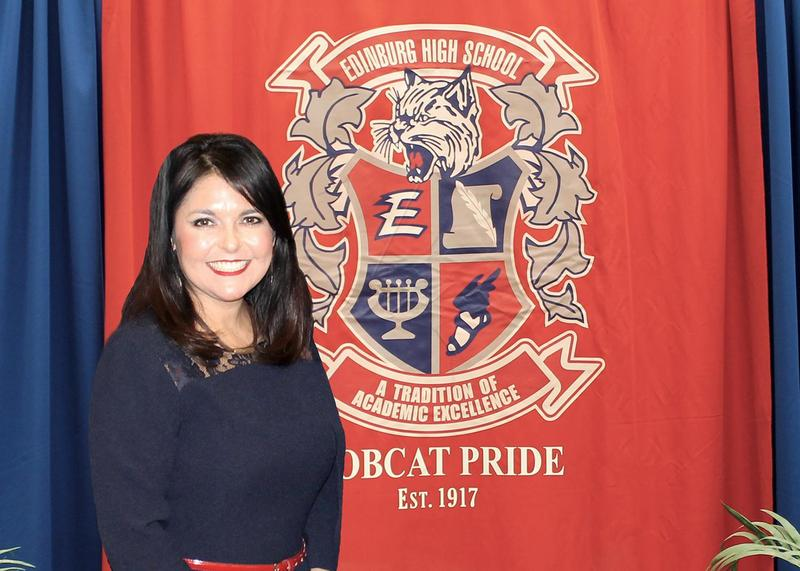 Edinburg High School Principal Yesenia T. Molina named Region One Outstanding Principal of the Year.