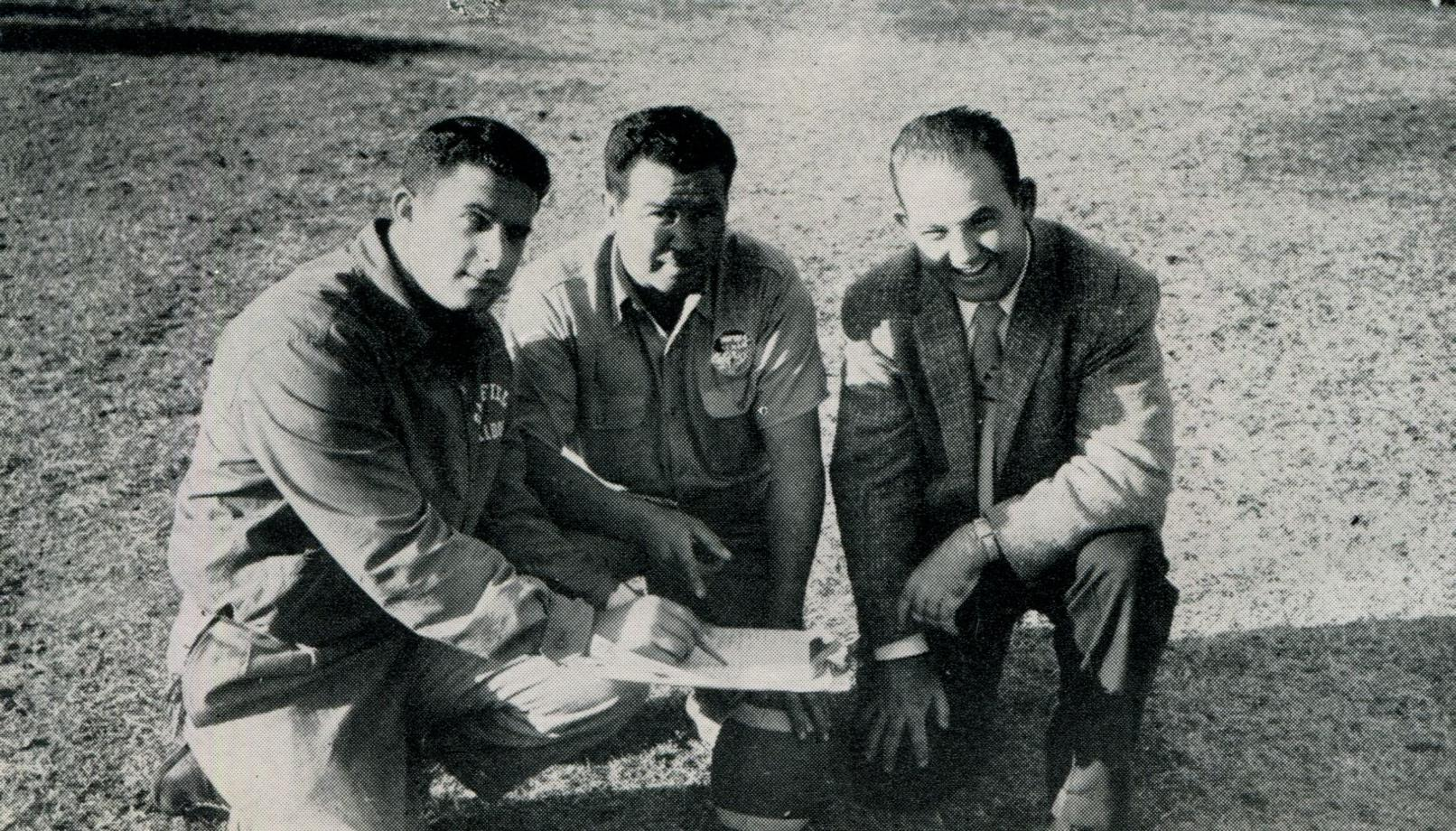 1956 B Football, Coaches Leonard Mann, Hector Morales and Donald Hastings