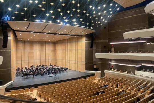 FHS Band Performs at Buddy Holly Center