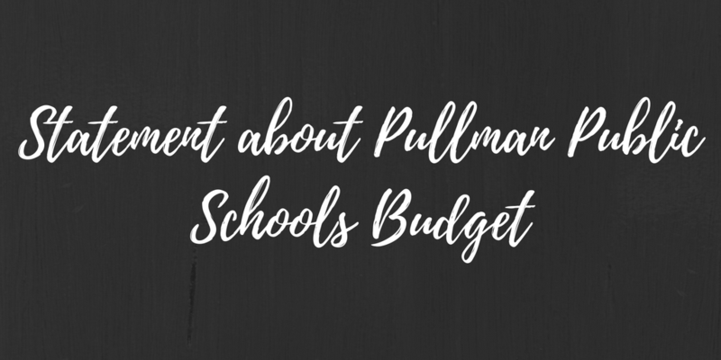 Statement about Pullman Public Schools Budget Thumbnail Image