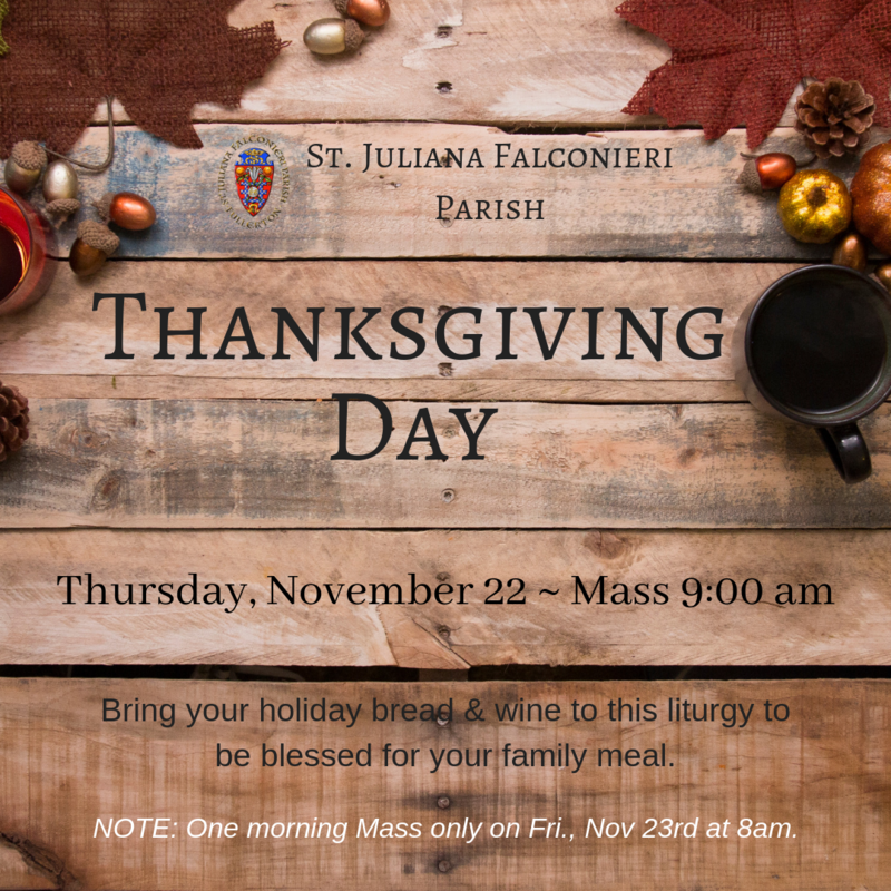 Thanksgiving Day Mass Information Featured Photo