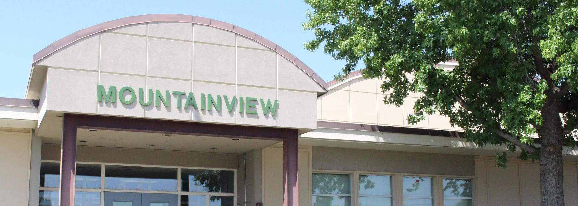Mountainview Elementary entrance