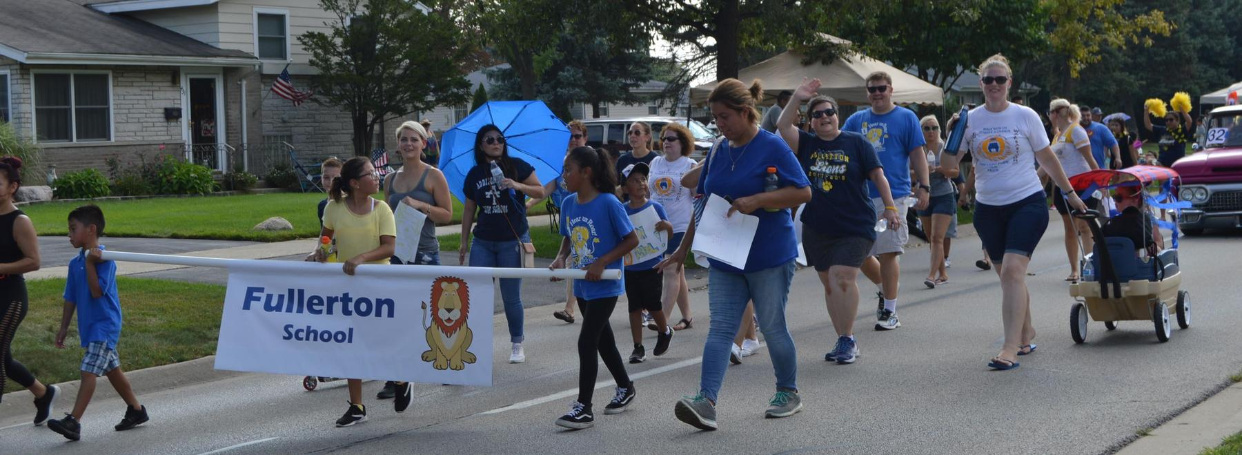 Fullerton in parade