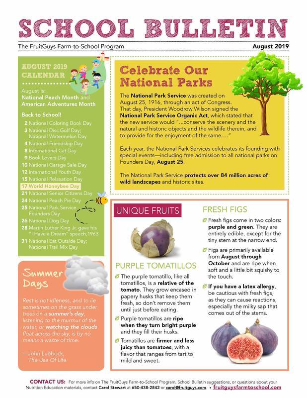 Fruit Guys School Bulletin