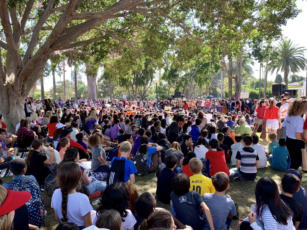 1,400 Students Gather in front of BHHS Student Action Committee Speakers