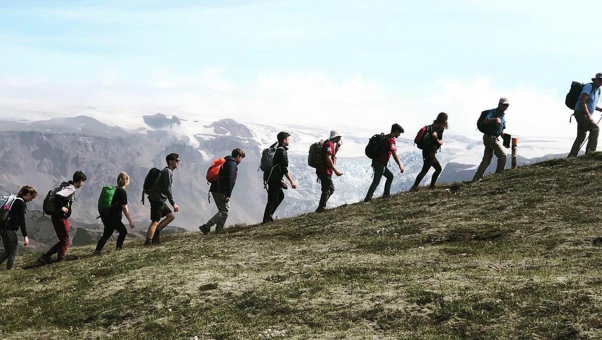 Outdoor Leadership Program Hiking in Iceland