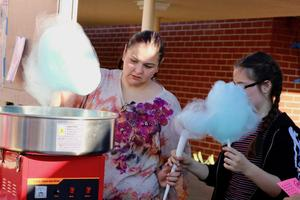 Volunteers serving Cotton Candy
