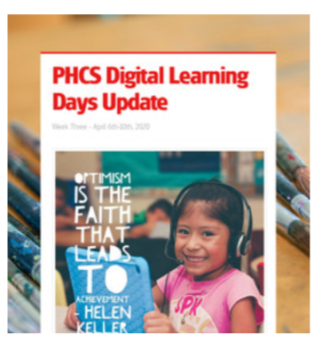 Digital Learning Update for Families Featured Photo