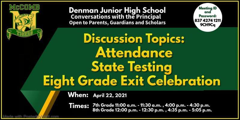 Denman Junior High School Conversation With The Principal 2021