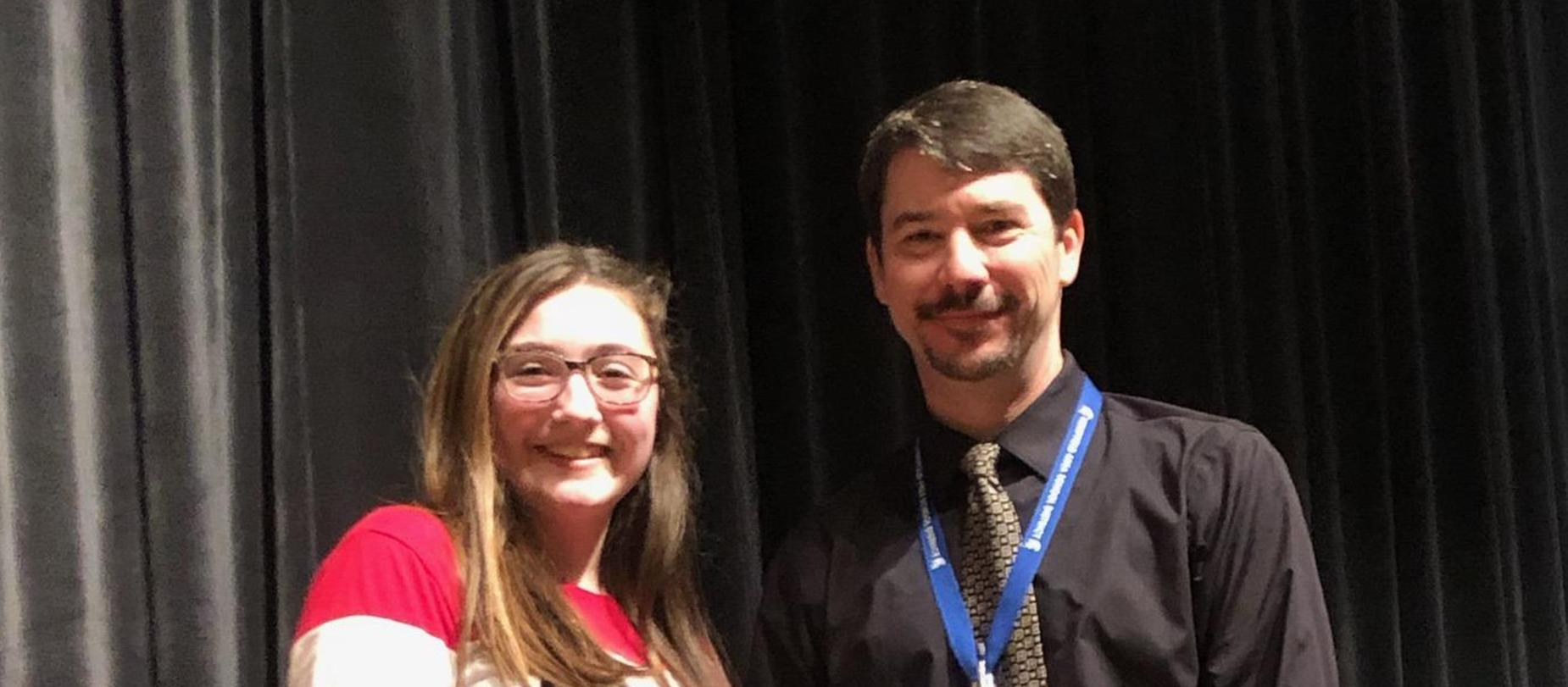 Spelling Bee Winner with Principal
