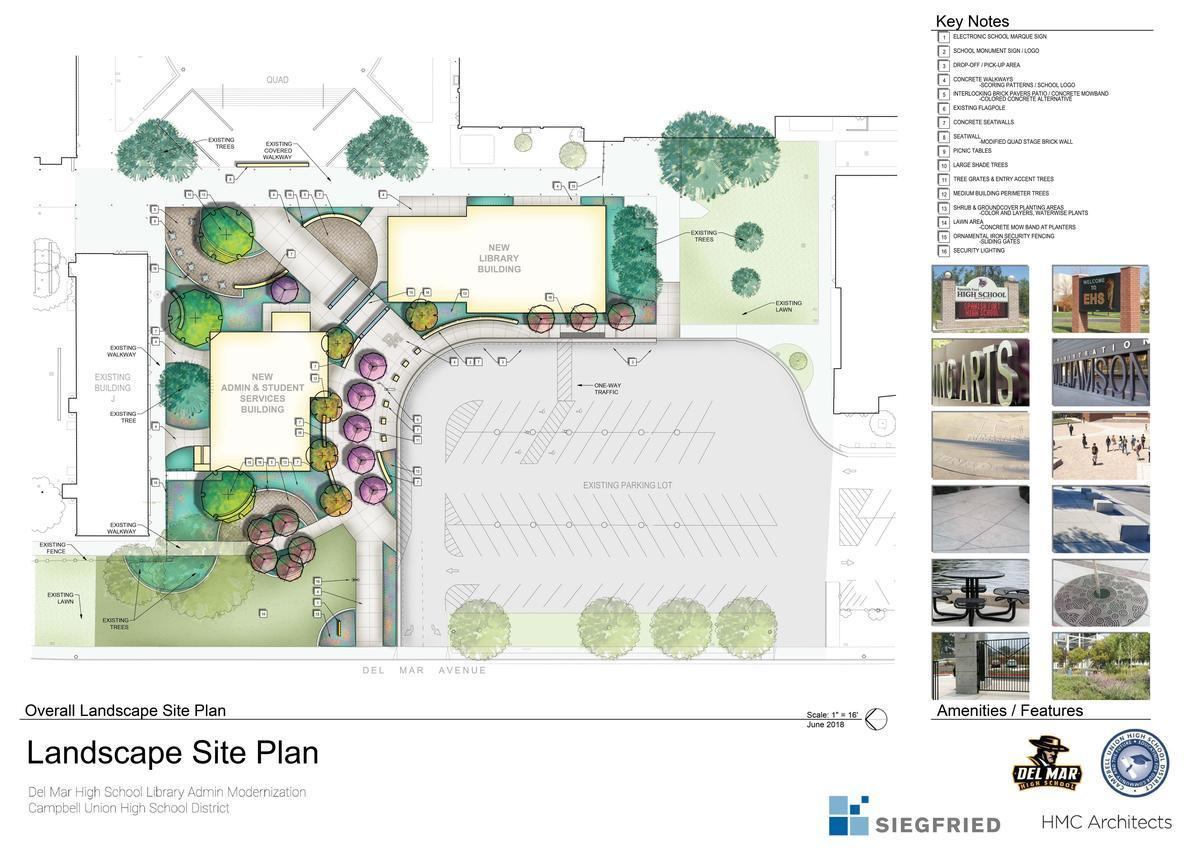 image of architect drawing for new administrative building and library