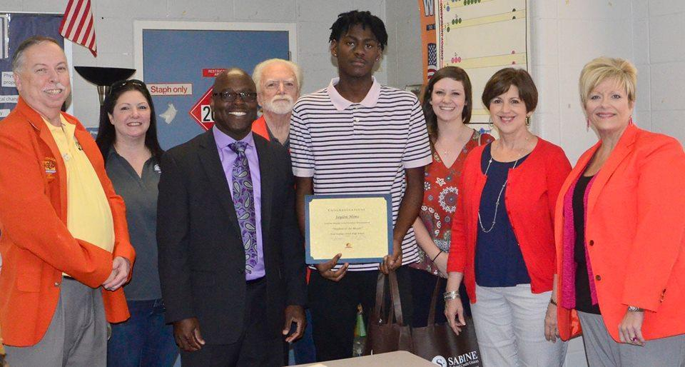 Jaylon March Student of the Month
