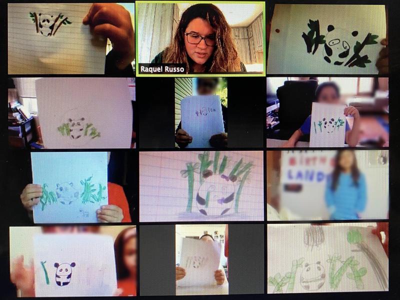 Mrs. Russo's class panda drawings