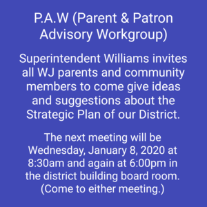 PAW Meeting Invitation