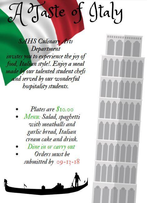 A Taste of Italy Banner