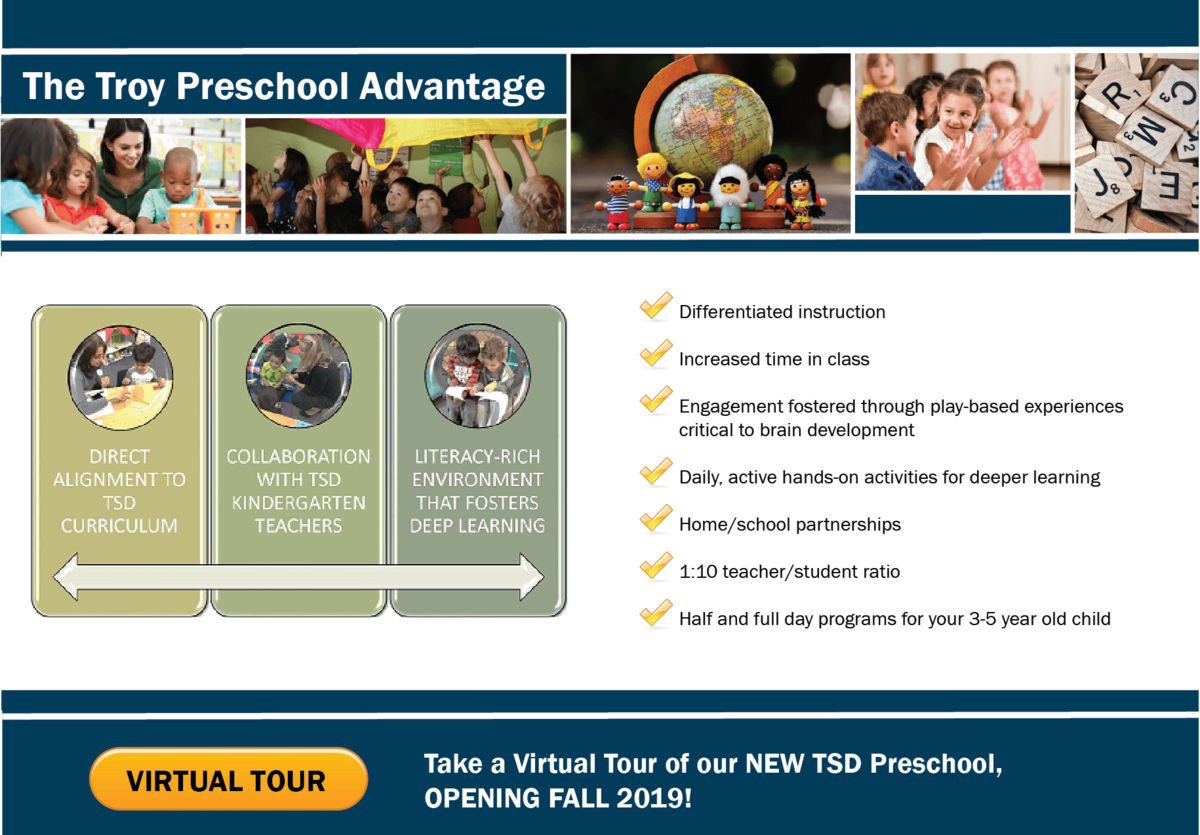 Troy School District Preschool InfoGraphic 2