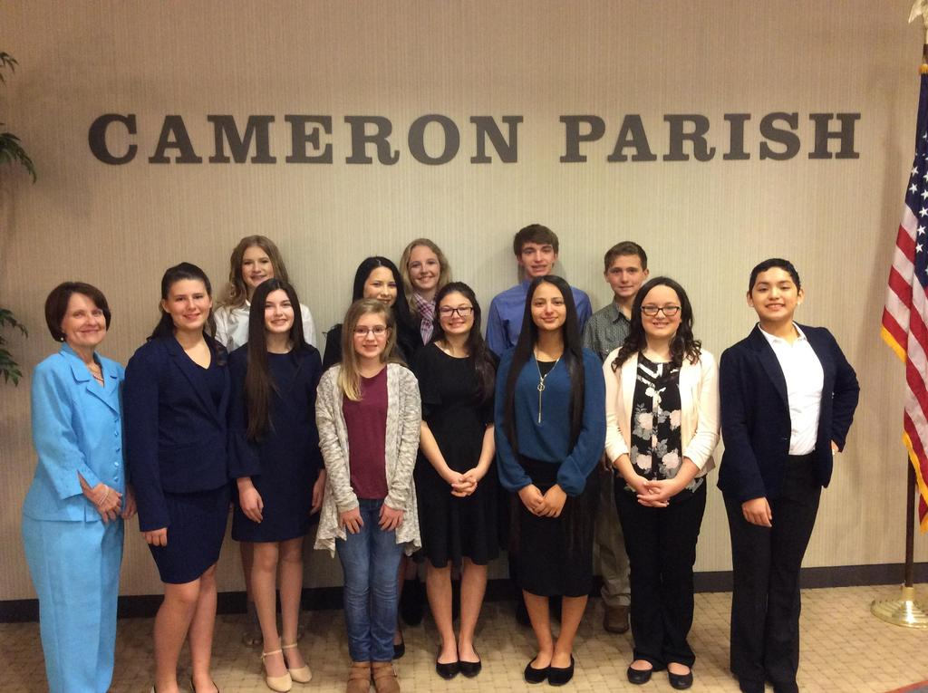 Parish Student of the Year participants
