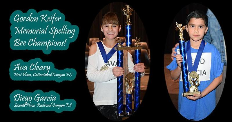 Congrats to our Gordon Keifer Memorial Spelling Bee Champs! AVA CLEARY, Gr. 5, CCE—1st Place; DIEGO GARCIA, Gr. 5, RRC—2nd Place!