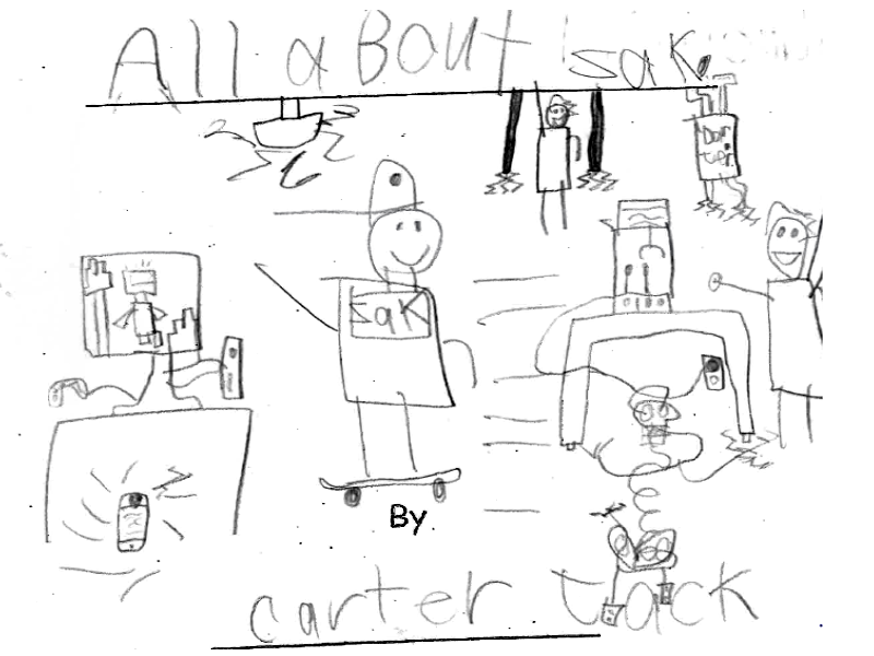 all about zac- cover photo of student authored and edited book