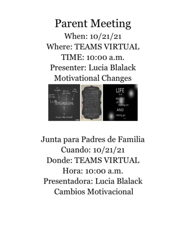 Parental Meeting / Junta de Padres Featured Photo