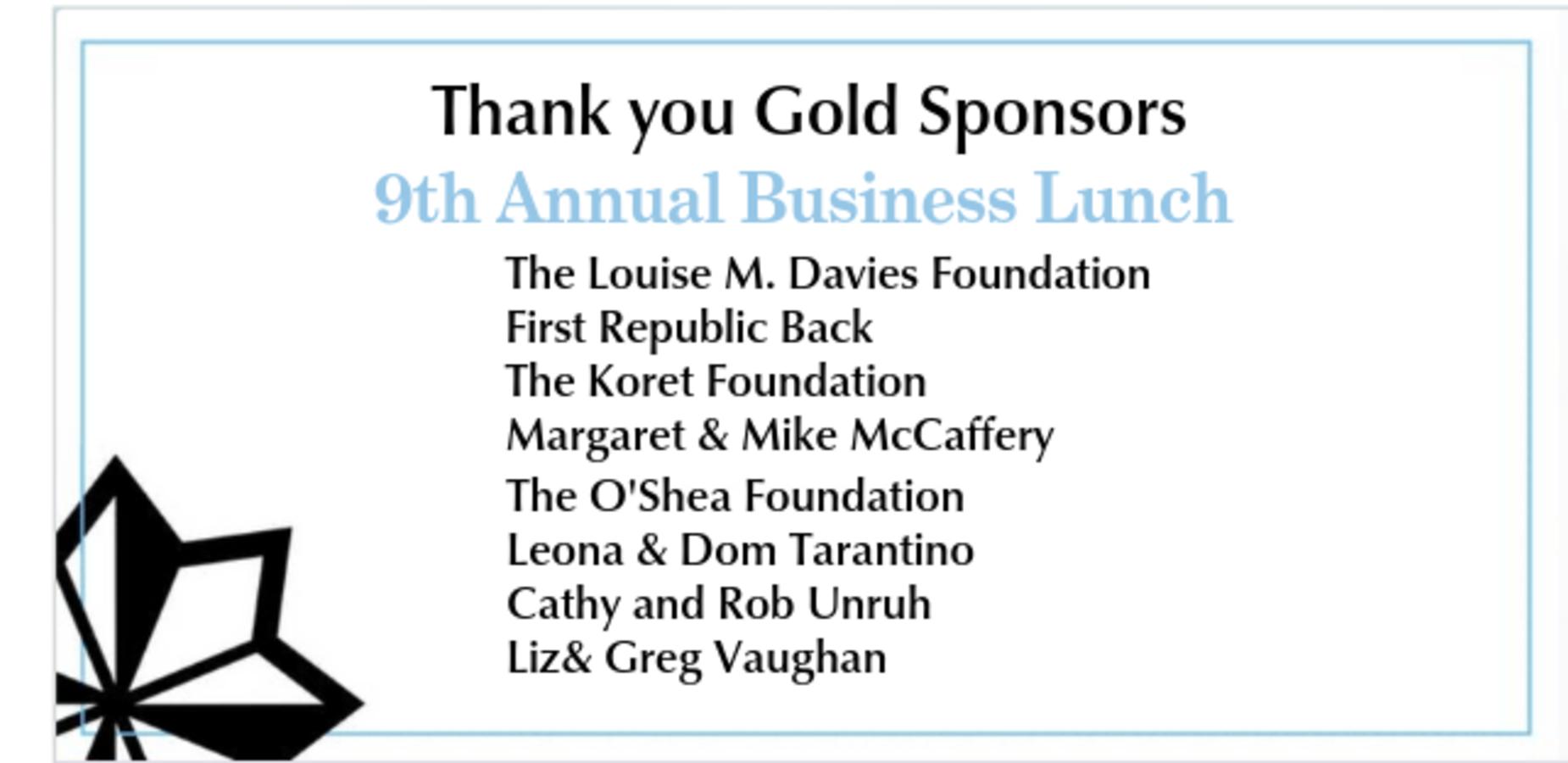 Gold Sponsor List