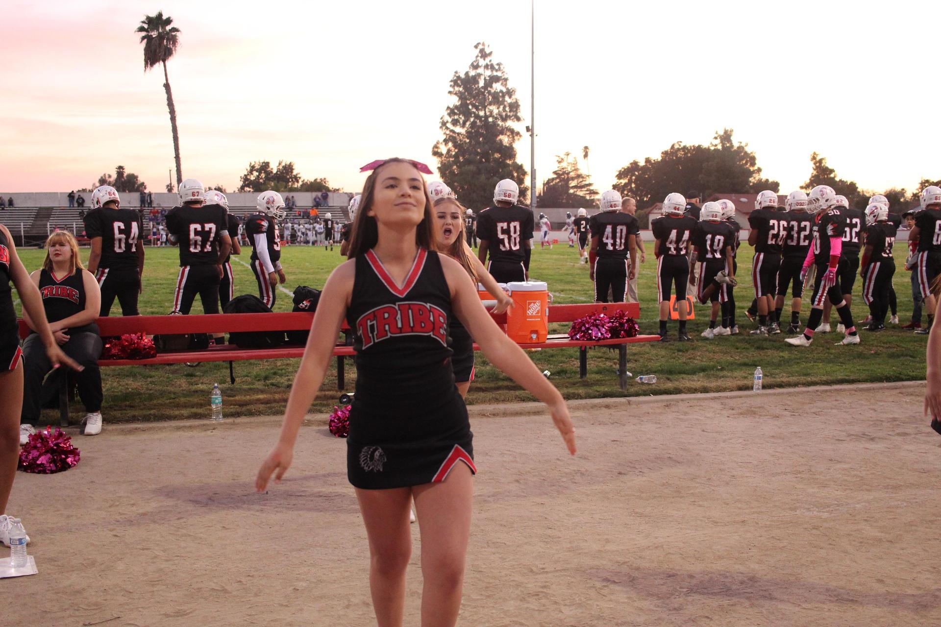 Tribe Cheerleaders Cheering