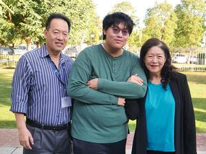 Matthew Chun and his parents