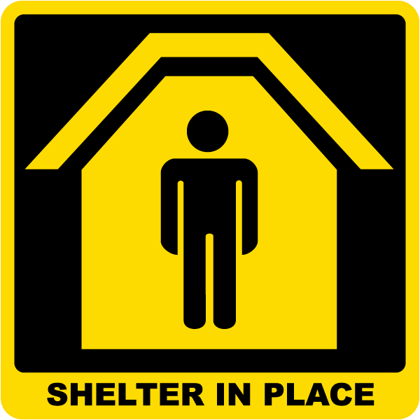 shelter in place clip art