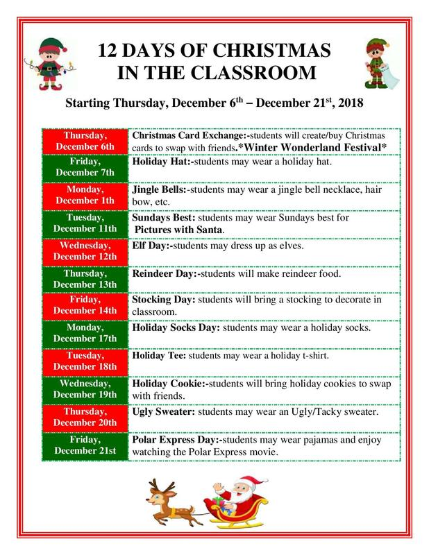12 Days of Christmas in the Classroom Featured Photo