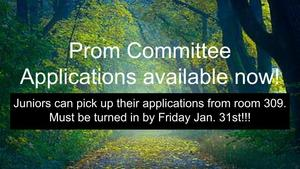 Prom Committee Applications Now Available