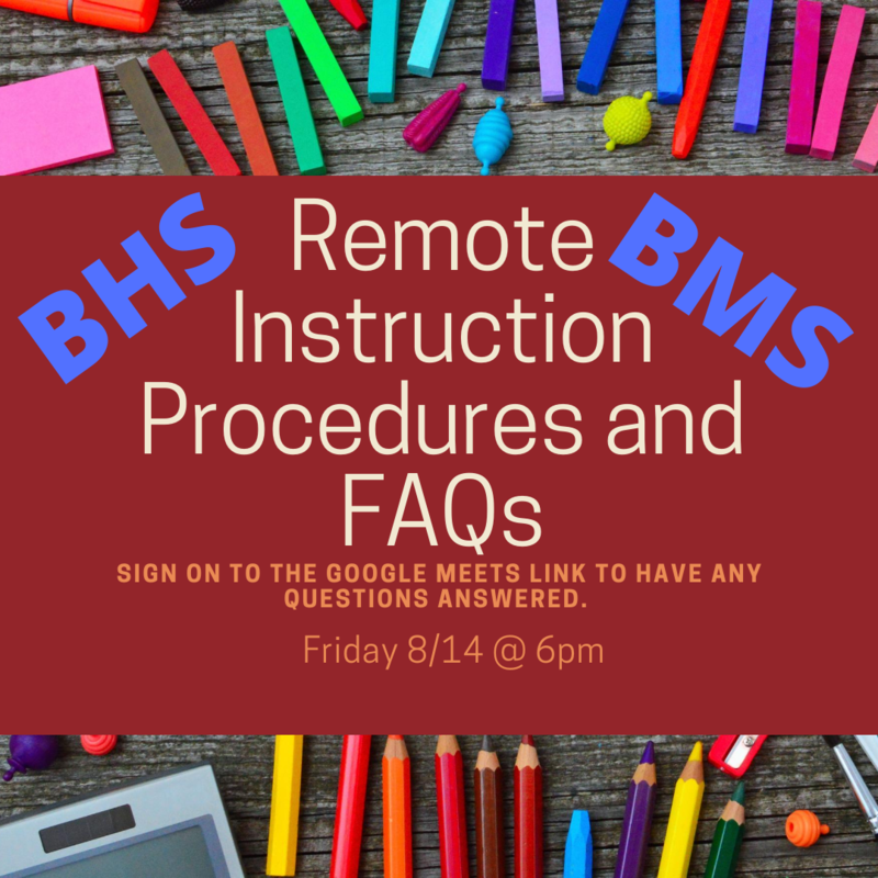 Remote Instruction Procedures & FAQs