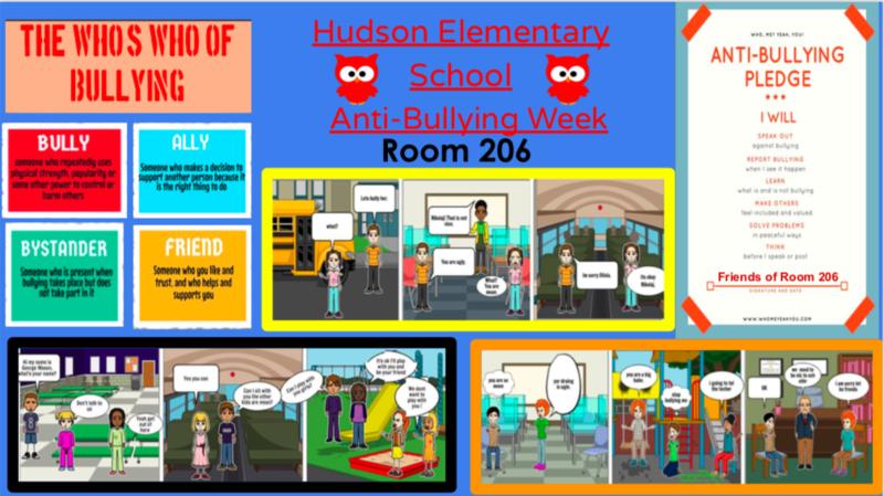 Room 206 comic strip collage