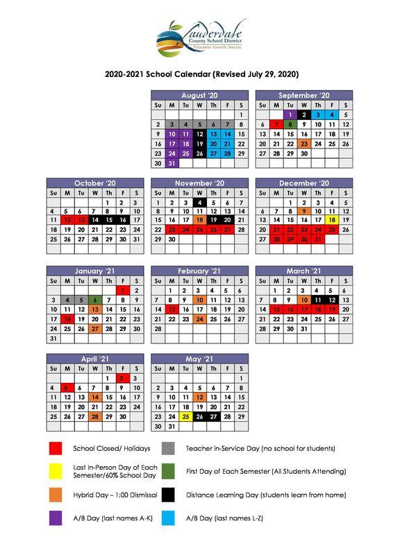 Revised Calendar Graphic