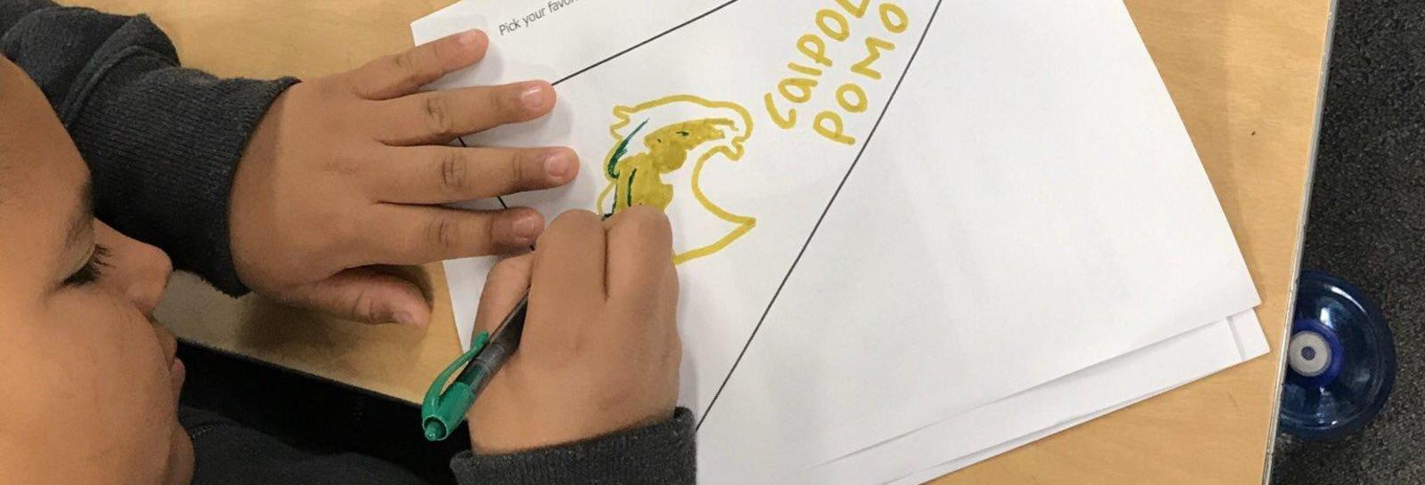 Kellogg Panthers are College bound! - Ms. Hernandez is teaching 4th graders that college preparation starts early! Students got to select their favorite college and drew their own college pennants! #AllMeansALL #proud2bePUSD #scchat