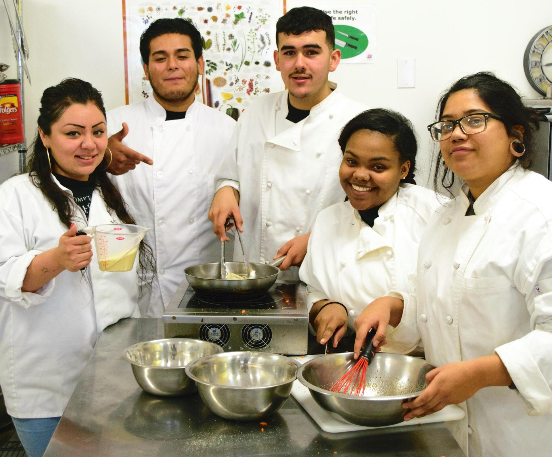 Compton Culinary Students