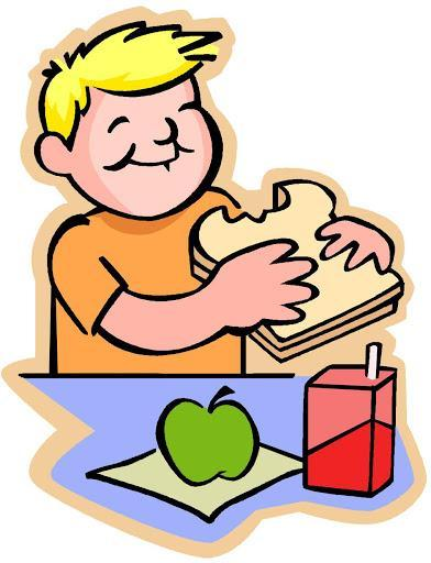 clipart of kid eating