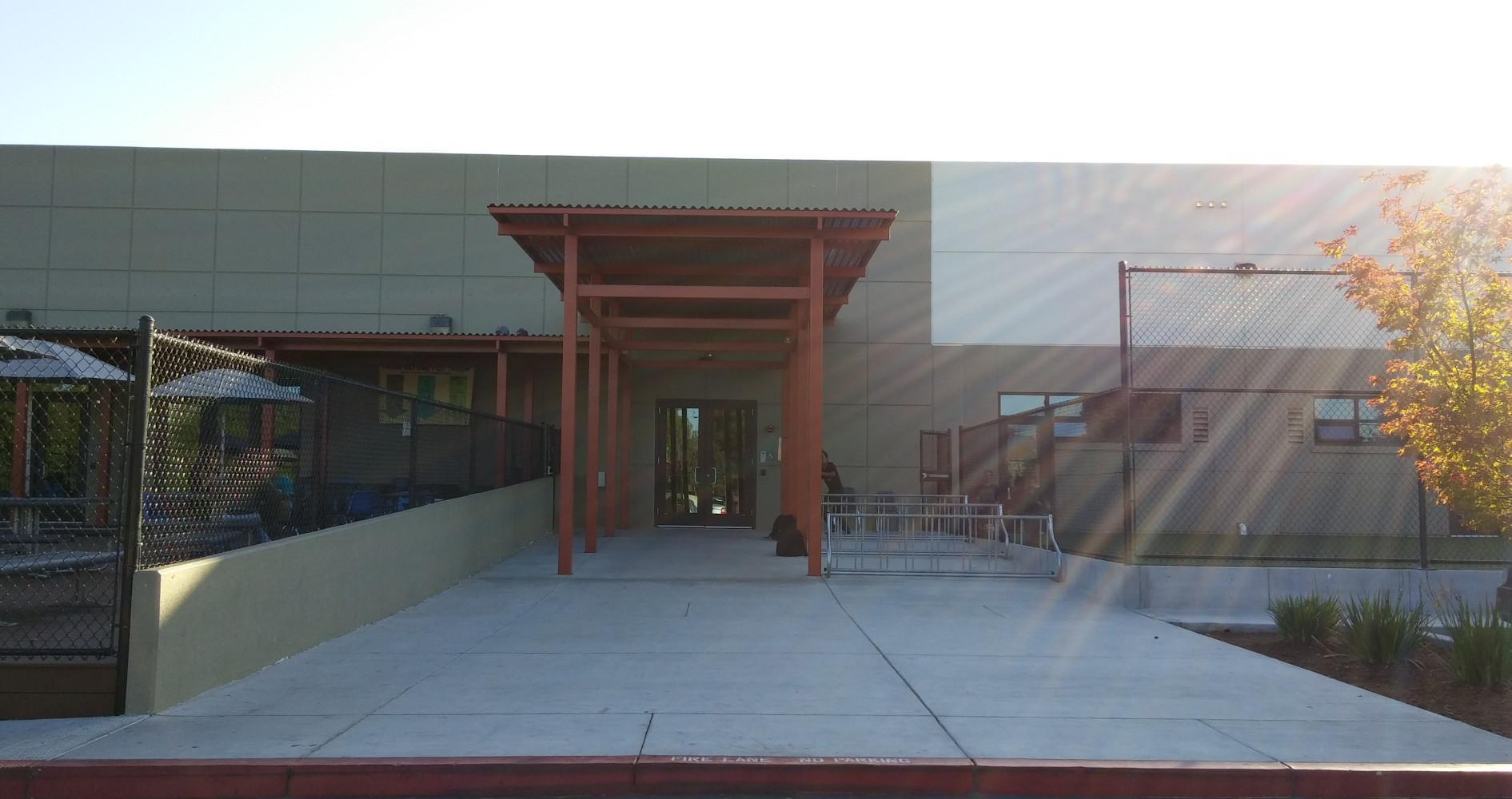 Main entrance to Ceiba College Prep
