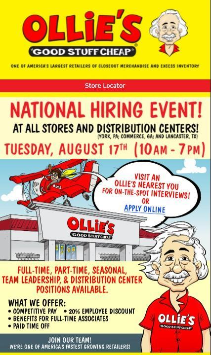 Ollie's National Hiring Event