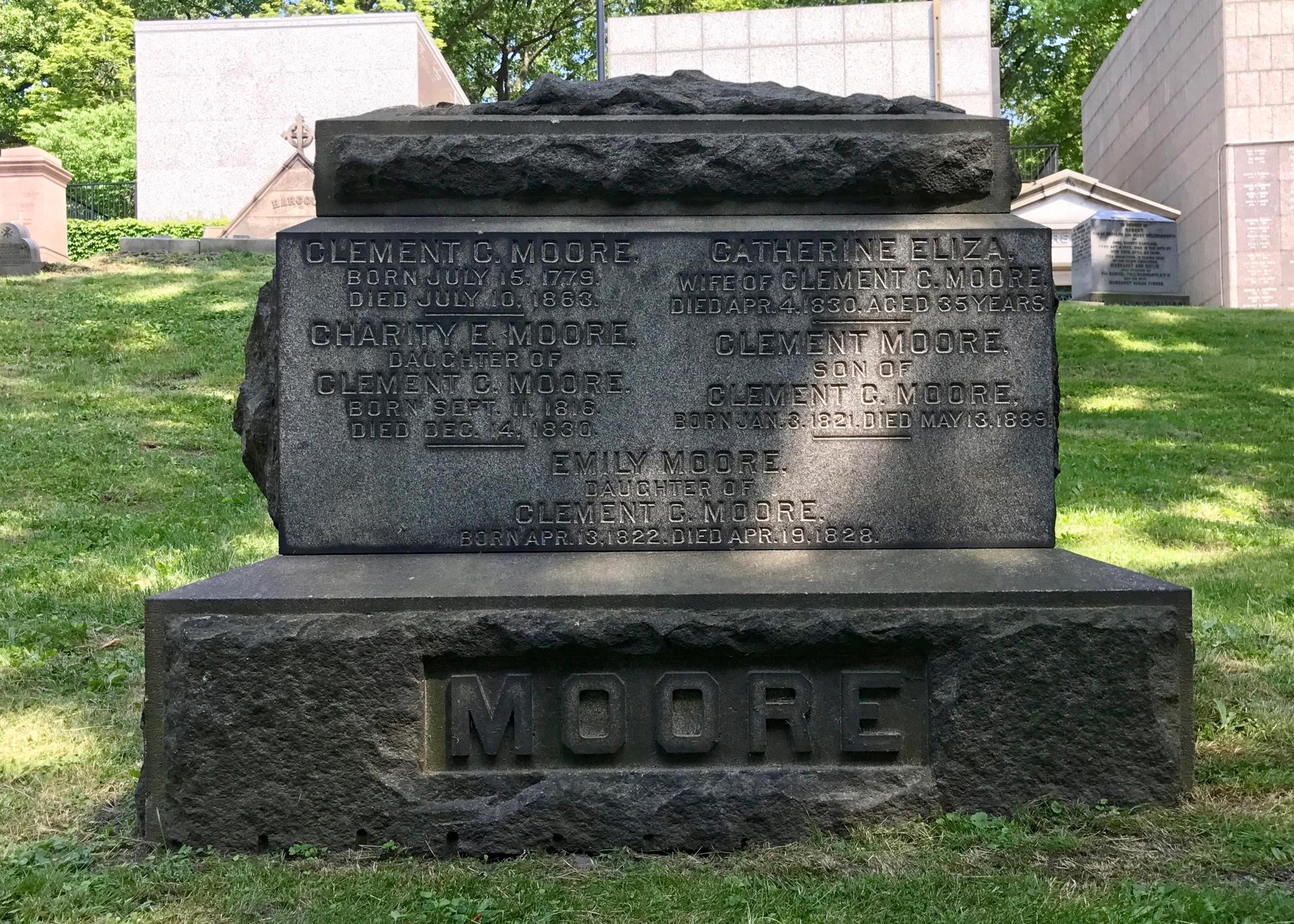 Grave of Clement C. Moore