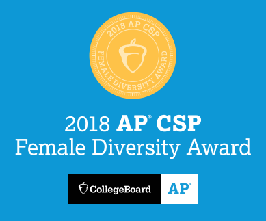 2018 AP CSP Female Diversity Award