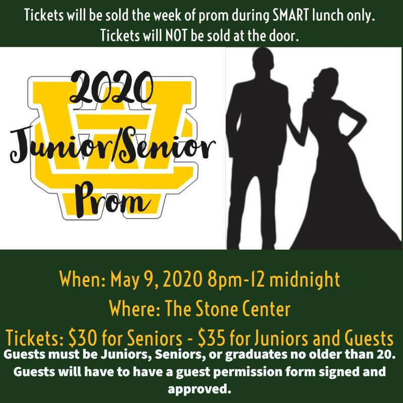 Click for 2020 Prom Information and Non-WCHS Guest Permission Form Thumbnail Image